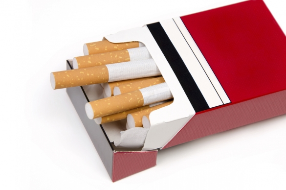 Photo of a pack of cigarettes