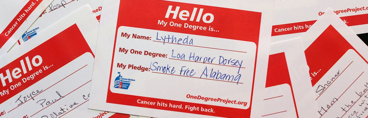 Photo of One Degree Campaign Name Tags