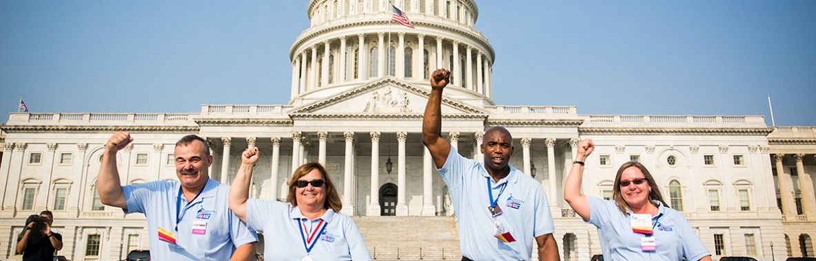 Picture of Volunteers at the U.S. Capital