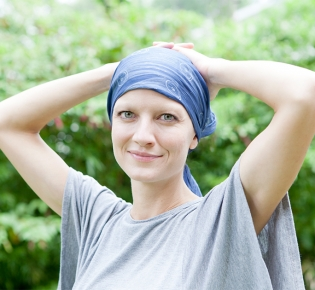 Photo of female cancer patient
