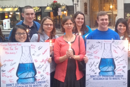 Photo of ACS CAN Volunteers at Advocacy Event to Support Cancer Research Funding
