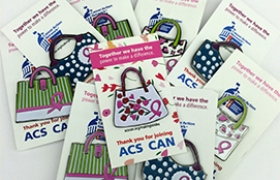 Photo of Making Strides Against Breast Cancer Advocacy Pins